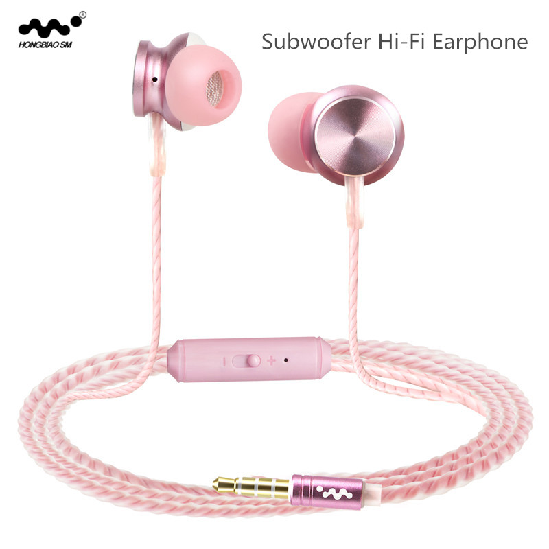 HONGBIAO SM In-ear Earphone 3D Bass Headset Earbud With HD Microphone For iPhone Xiaomi Android Mobile Phone Computer Earpiece инструмент for iphone 8 1 5 pentalobe iphone 4 4s 5 5s 5c for iphone 4 4s 5 5s 5c