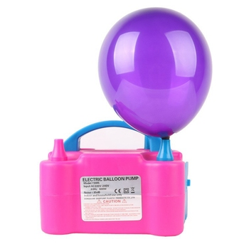 Balloon Air Pump Inflator Electric 110-120V Portable Double Electric Balloon Air Pump Inflator Dual Nozzle Blower with US Plug