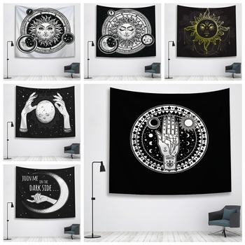 цена на Sun Witchcraft Ouija Tapestry Wall Fabric Wall Hanging Tapestry Wall Blanket Farmhouse Home Decor  Boho Decor Window Tapestry