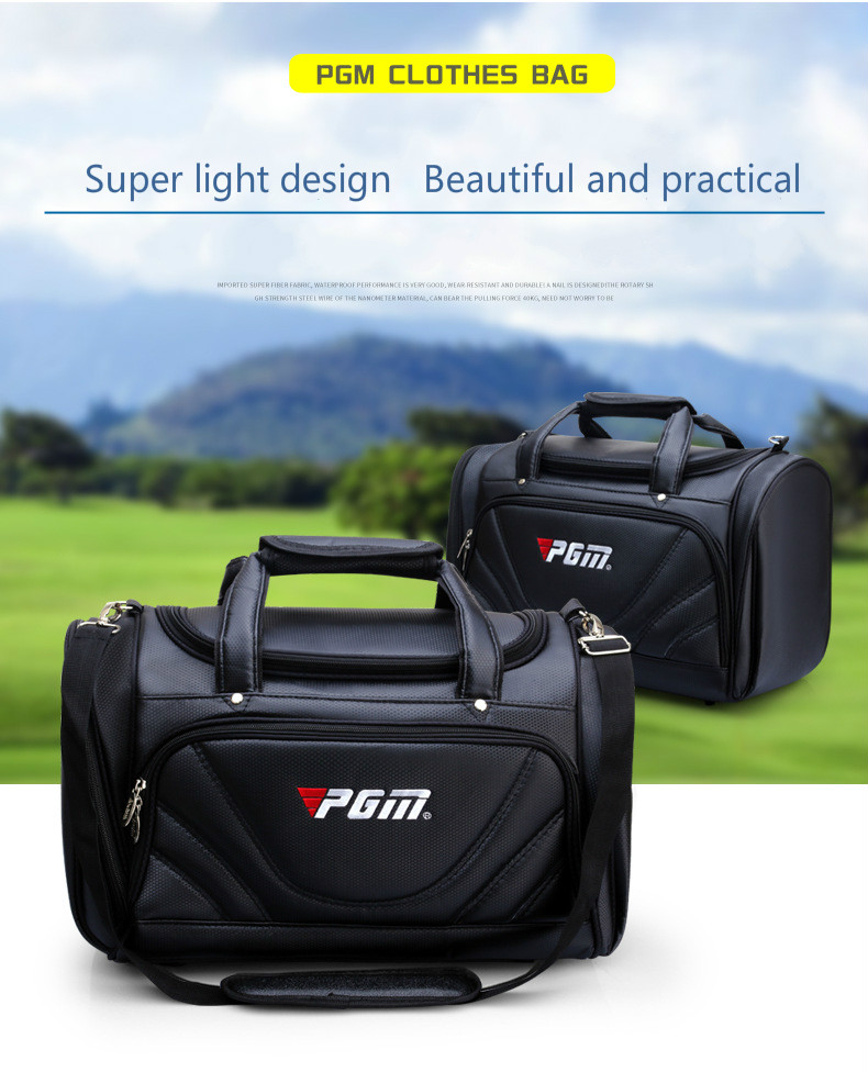 2018 PGM Golf Clothes Bag Men's PU Ball Package Multi functional Clothes Bag Super Capacity Ultralight Wear resisting Golf Bag-in Golf Bags from Sports & Entertainment    2