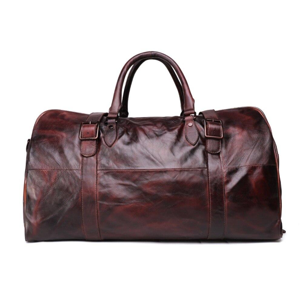 ของแท้หนังผู้ชายกระเป๋าเดินทางกระเป๋าเดินทาง Duffle กระเป๋าก้อนบรรจุไหล่กีฬากระเป๋าเดินทาง Big Tote กระเป๋าสะพาย Reisetasche-ใน กระเป๋าเดินทาง จาก สัมภาระและกระเป๋า บน   2