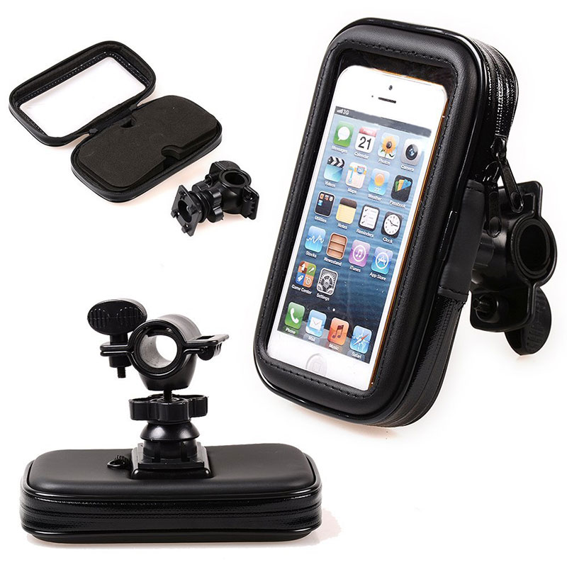 Bike Waterproof Case Bag Handlebar Mount Holder Bicycle Phone For IPhone 6S Plus Motorcycle Support