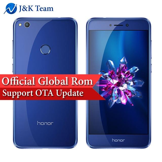 Глобальной прошивки Huawei Honor 8 Lite ota обновления 4 г смартфон Android 7.0 Octa core 2.1 ГГц 5.2 дюймов Экран 12MP Камера 3000 мАч