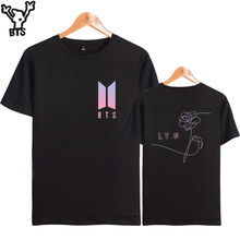 BTS Love Yourself T-shirt Women K-pop Bangtan Boys Tshirt Women/men Cotton 2017 New Song DNA Summer Short Sleeve T Shirt XXS-4XL(China)