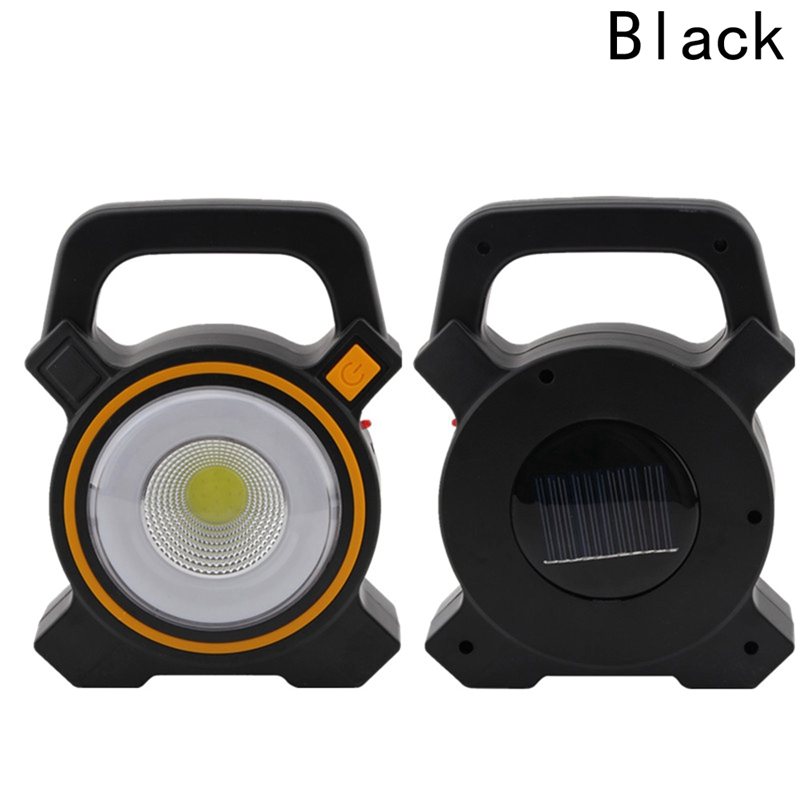 Solar COB camping light portable rechargeable emergency work lights LED Exterieur Solar Power Flashlights Portable Hand Lamp