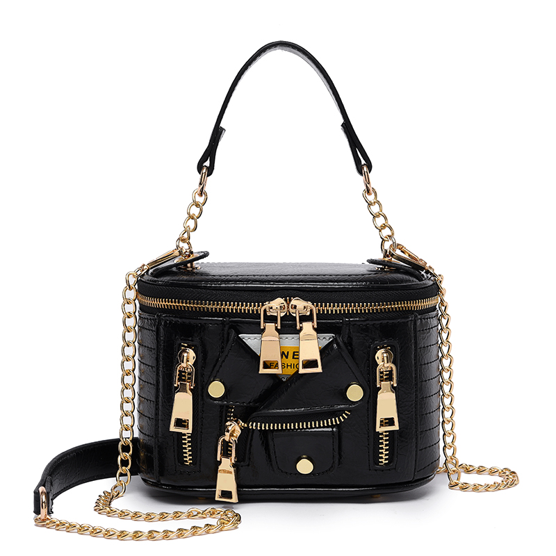 Luxury Handbags Women Bags Designer Cool Jacket Shaped Punk Motobike Style Shoulder Messenger Crossbody Bag for Women 2021