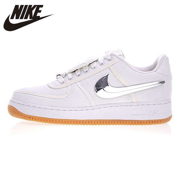 803c5043 Nike Air Force 1 Low Travis Scott Women Skateboarding Shoes,Women Outdoor  Sneakers Comfortable Shoes,White Color AQ4211-100