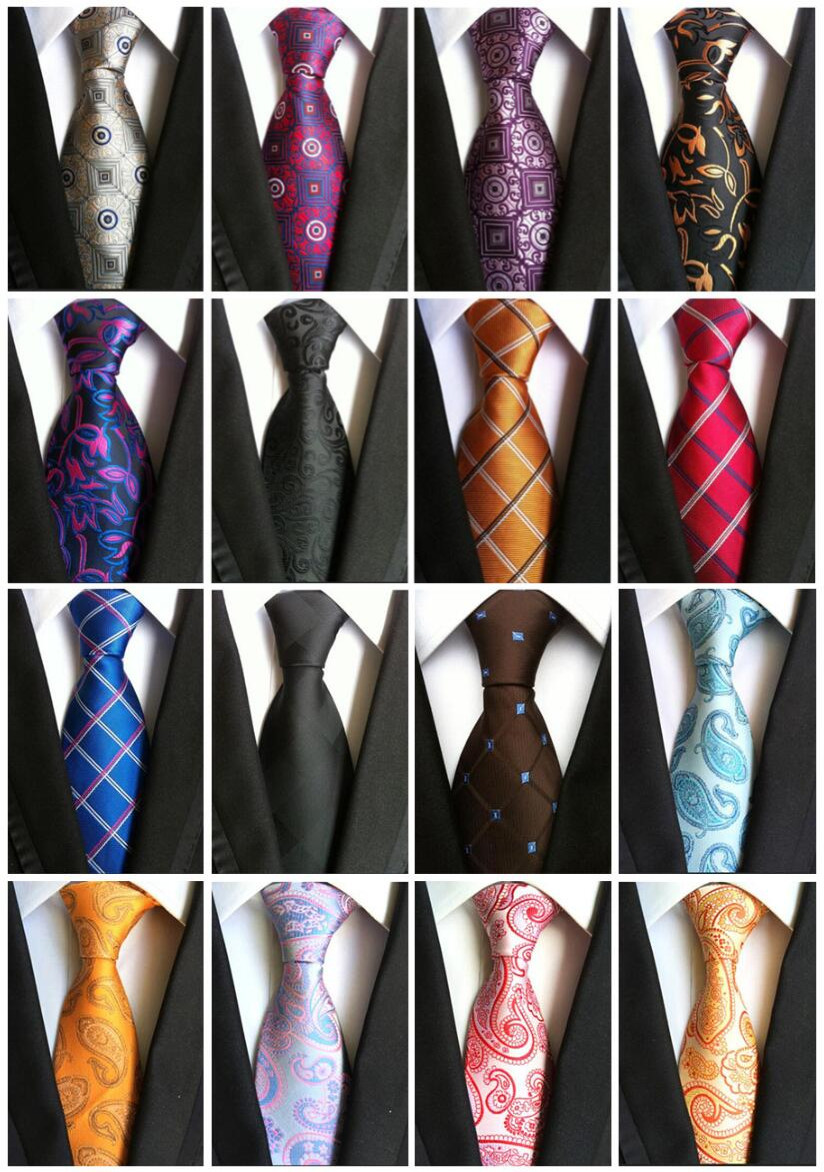 Hot Sell 100% Silk Plaid Ties Men Stropdassen Heren 2019 Wedding Cravate Pour Homme Jacquard Woven Necktie Party Business Formal