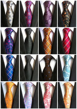 Hot Verkoop 100% Zijde Plaid Ties Mannen Stropdassen Heren 2019 Wedding Cravate Giet Homme Jacquard Geweven Stropdas Party Zakelijke Formele(China)
