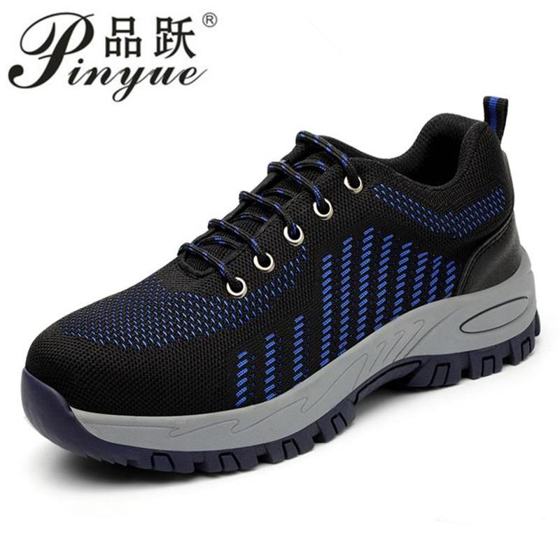 2018 nouvelles chaussures de sécurité antidérapantes de mode chaussures de travail hommes semelle en caoutchouc et semelle en caoutchouc processus respirant chaussures de travail en caoutchouc