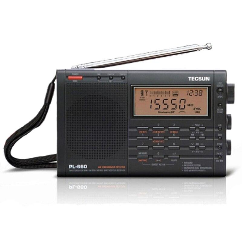 Radio Aus Dem Ausland Importiert Tecsun Pl-660 Radio Pll Ssb Vhf Air Band Radio Empfänger Fm/mw/sw/lw Radio Multiband Dual Umwandlung Tecsun Pl660 Tragbares Audio & Video