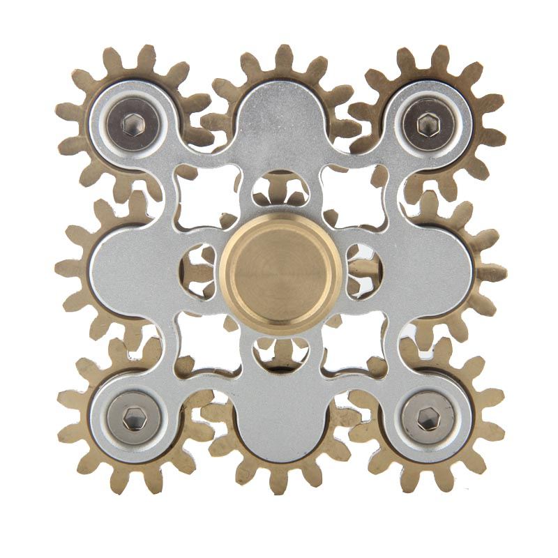 9 Gear Metal Fidget Spinner Stress Anti Toys With Box ...