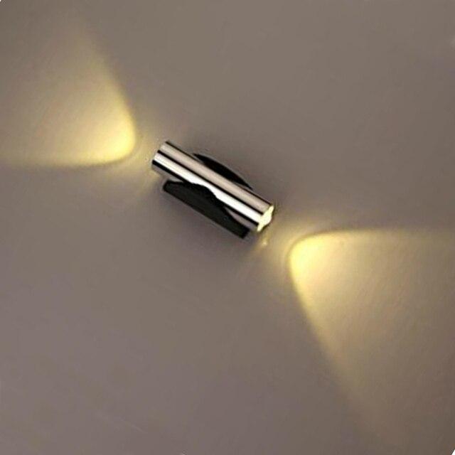 Moderne 2 Watt LED Wandleuchte Aluminium Led Spot Wandleuchte Dekoration  Licht 85 265 V Für