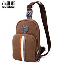 Europe style Men chest bag Korean version casual canvas man bag students pockets of men and