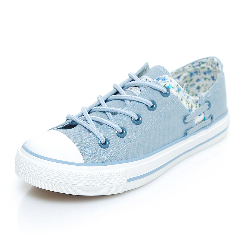 2a612ede8dd women canvas shoes 2017 new flat denim casual shoes Shallow mouth Floral  Espadrilles high quality Small fresh women shoes-in Women s Flats from Shoes  on ...