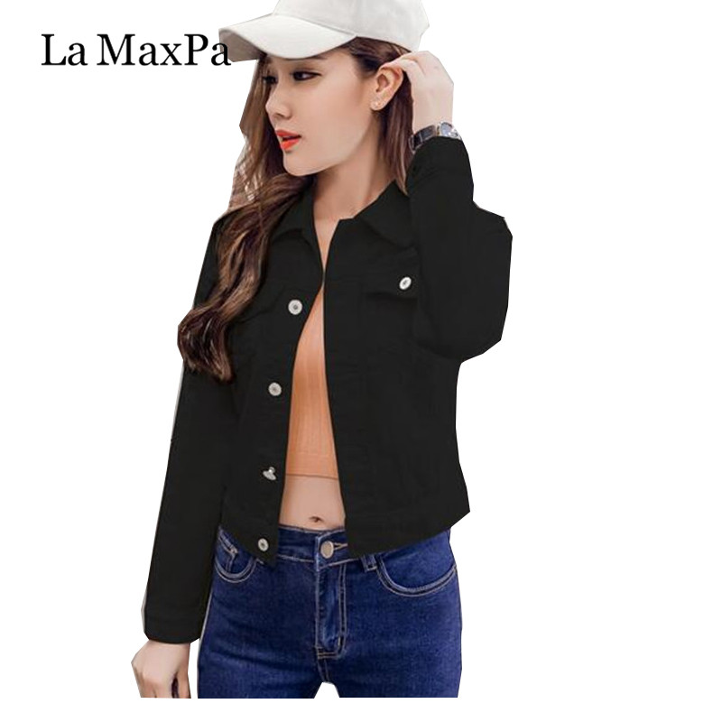 Summer Jacket For Women Fashion Autumn Long-sleeved Denim Shirt Korean Jacket  Stretch Short Denim Jacket Coat Chamarra Mujer