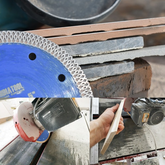 "Dia 4"" 4.5"" 5"" 7"" 8'' 9"" 10"" 12"" Hot pressed sintered X Mesh Turbo Diamond Saw blade circular Cutting Disc Marble Tile Ceramic 1"