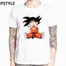 Summer Mens T Shirt  Dragon Ball Z T-shirt Japanese Anime Goku Print Funny Shirts Harajuku White Homme Tops