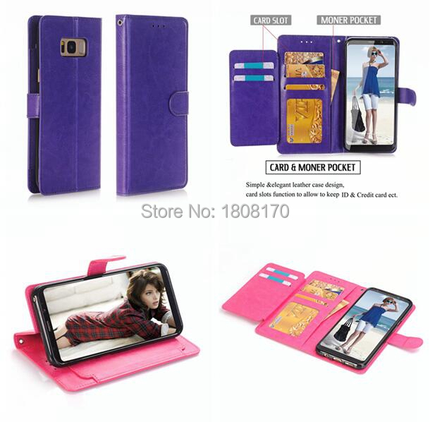 Mad Wallet Leather Pouch Case For Samsung Galaxy S8 Plus
