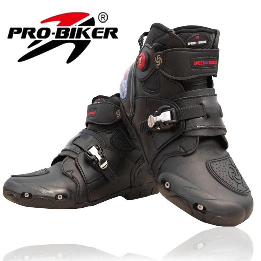 Livraison gratuite 1 paire moto sport vélo moteur GP Racing haute Fiber cuir imperméable moto bottes