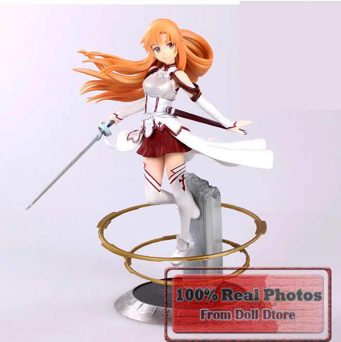23 Cm Jepang Tokoh Anime Sword Art Online Asuna PVC Action Figures, Mainan Lucu Aincrad Gambar Koleksi Model Mainan anak Laki-laki