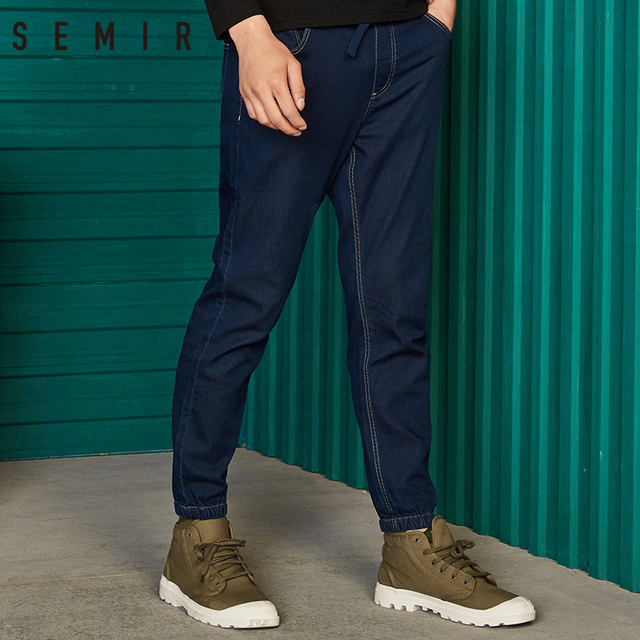 SEMIR jeans men jogger pants classic jeans for man denim sporty chic pants Designer Trousers Casual fashion Deep Blue pants jean