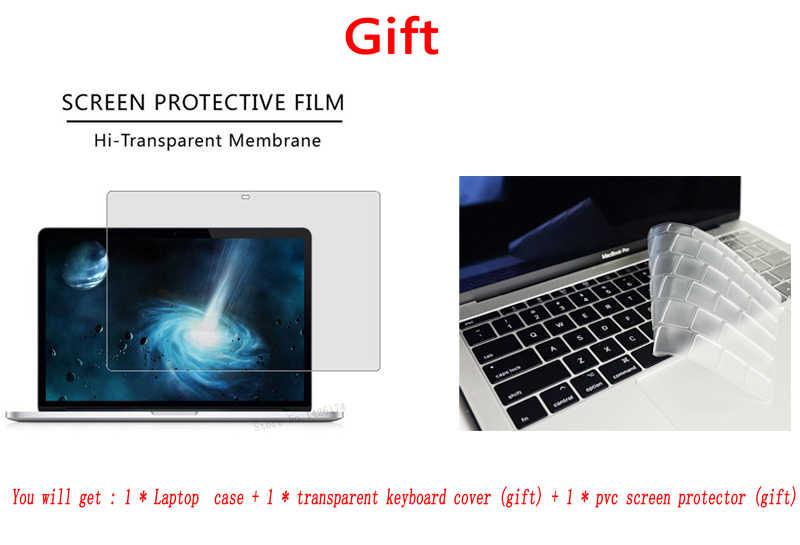 Kristal \ Matte Casing untuk Apple Mac Buku Udara Pro Retina 11 12 13 15 Inch Tas Laptop, untuk Baru MAC Buku Udara Pro 13.3 Case A1932 + Hadiah