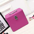 2016 New Women Cosmetic Case Large Capacity Tote Organizer Storage Box Beauty Case with Lock Makeup Bags Cosmetic Makeup Box
