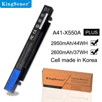Kingsener Laptop Battery For Asus A41-X550A X550C X452E X450L X550 A450 A550 F450 R409 R510 X450 F550 F552 K450 K550 P450 5200mah laptop battery for asus a41 x550 a41 x550a a450 a550 f450 f550 f552 k550 p450 p550 r409 x450 x550 x550c x550a x550ca