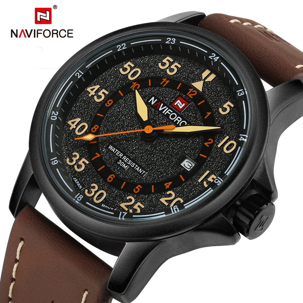 2016 Brand Fashion Men Sport Watches Men's Quartz Clock Man Leather Strap Military Army Waterproof Wrist watch relogio masculino weide popular brand new fashion digital led watch men waterproof sport watches man white dial stainless steel relogio masculino