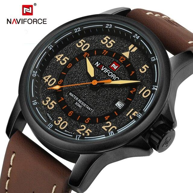 2016 Marca De Moda Los Hombres Relojes de Los Hombres reloj de Cuarzo Reloj de Hombre Correa de Cuero Militar Del Ejército reloj Impermeable relogio masculino
