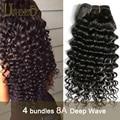 Grade 8A Malaysian Virgin Hair 4 Bundles Deep Curly Hair Mink Malaysian Curly Hair Weave Malaysian Deep Curly Human Hair Bundle