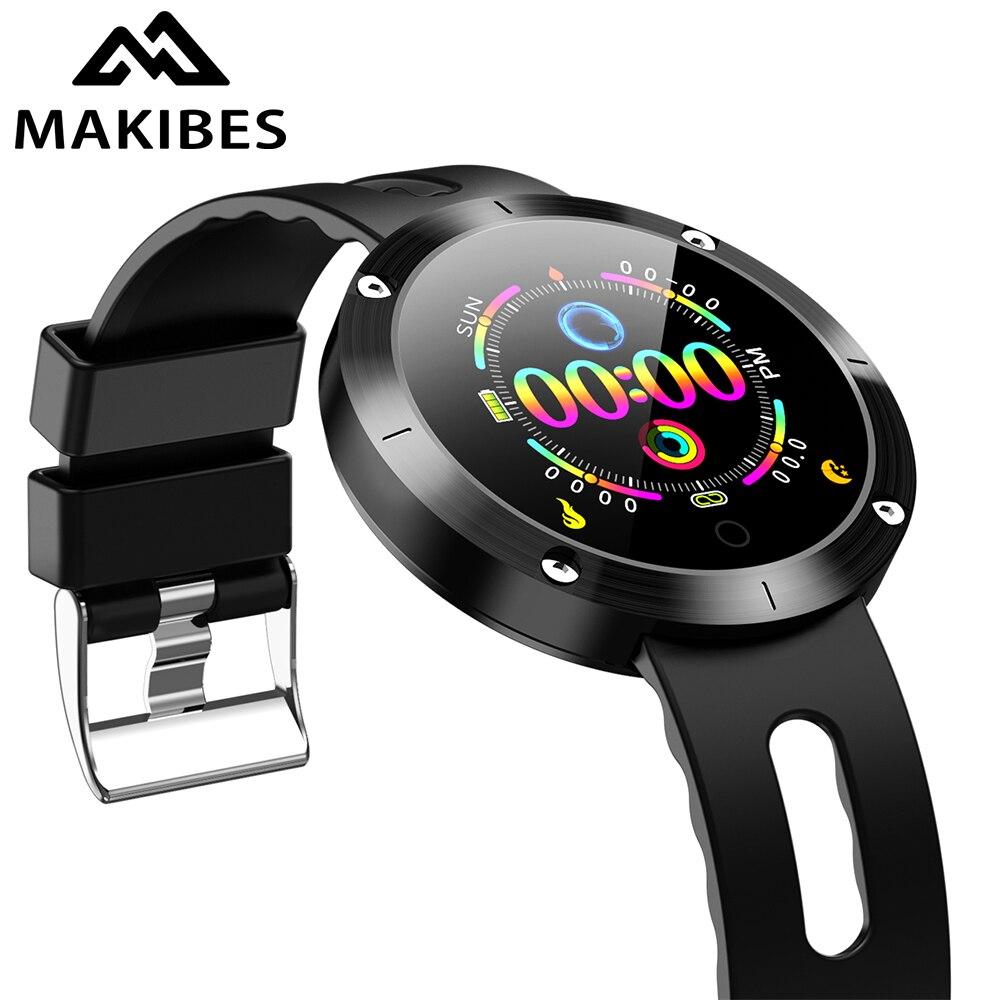 Новинка Makibes DM58 PLUS Bluetooth браслет 4,0 кровяное давление H & R IP68 Водонепроницаемый трекер активности умный браслет подарок для друга