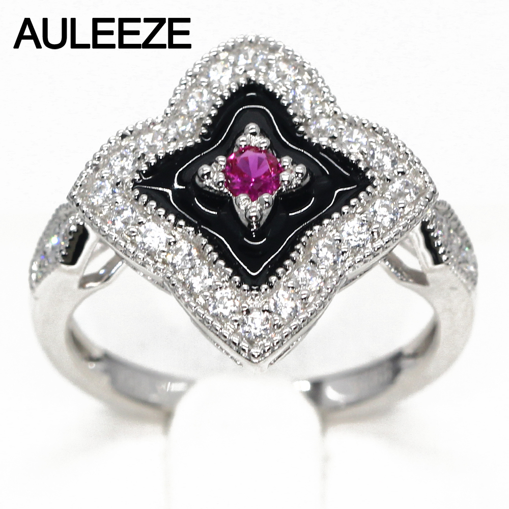 цена на Vintage Style Natural Ruby Ring Real 925 Sterling Silver Art Deco Ring Genuine Ruby Jewelry Party Rings For Women Gift