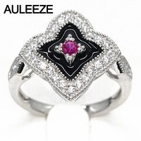 Vintage Style Natural Ruby Ring Real 925 Sterling Silver Art Deco Ring Genuine Ruby Jewelry Party Rings For Women Gift