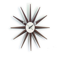 20 inch Wooden Starburst Clock Wall Clock