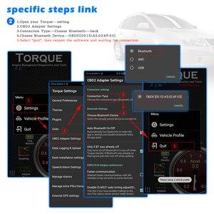 Image 3 - (10 Pcs)ELM 327 V1.5 OBD2 ODB2 Bluetooth Scanner For Android ELM327 V1.5 PIC18F25K80 OBD OBD2 Auto Car Diagnostic Scanner Tool