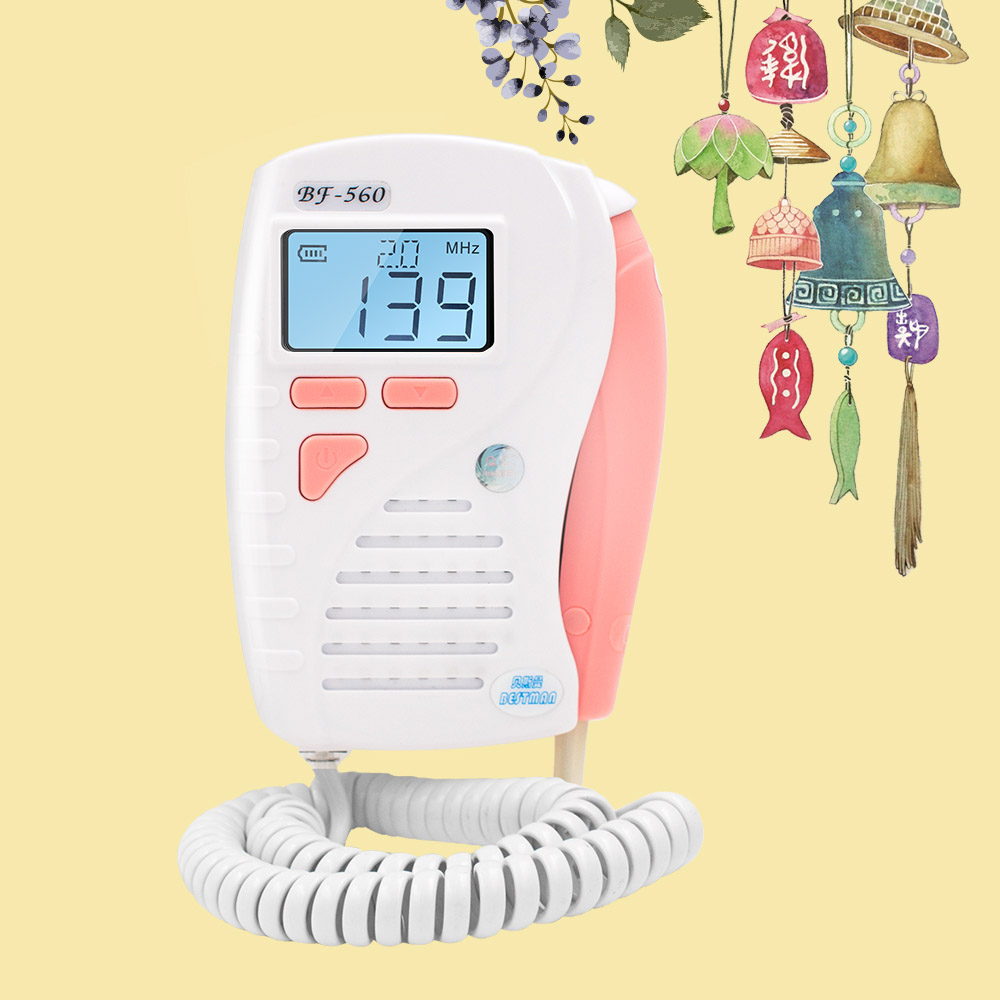 Bestman Fetal Doppler Unborn baby heart rate detector prenatal heart sound baby monitor BF-560 Pink color Home use футболка prenatal футболка