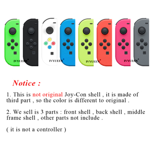 Image 4 - IVYUEEN for Nintend Switch NS Joy Con Replacement Housing Shell Case for JoyCons Controller Cover Green Pink White Repair Parts
