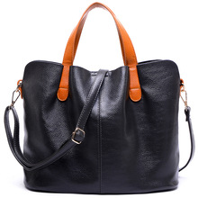 Leather Handbags Head Layer Cowhide Litchi Grain Women Handbags Fashion Portable Shoulder Messenger Bags Composite Bags