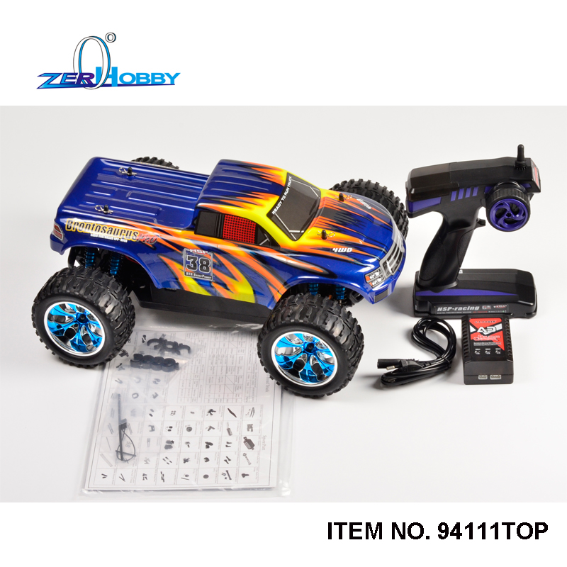 hsp racing monster 94111top car 110 scale 4wd off road electric powered high speed brushless truck battery not included