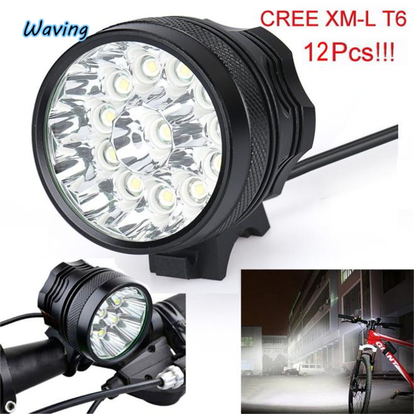1PC Flashlight on bicycle Tool for outdoor bike 3000Lm 12x  LED 3 Modes Bicycle Lamp Bike Light Headlight Cycling Torch Jan 9 led hook light magnetic flashlight perfect torch work lamp with magnet and 2 light modes camping outdoor sport drop clh