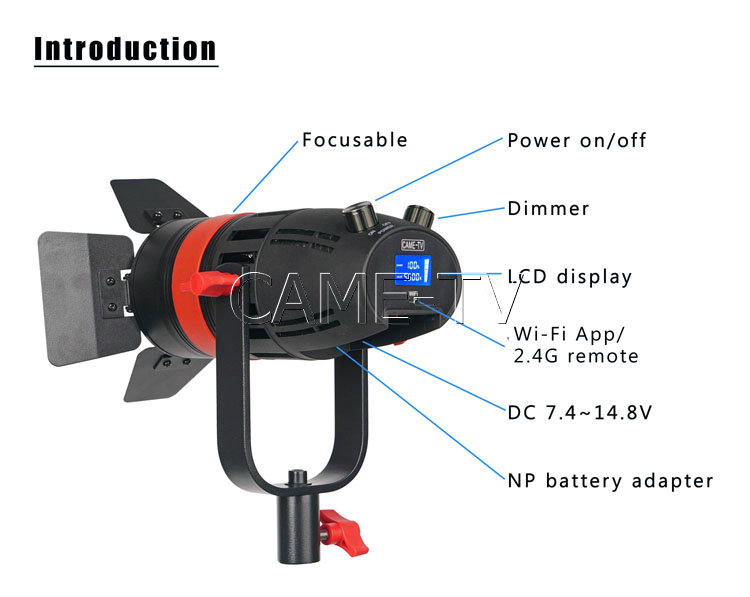 Image 4 - 1 Pc CAME TV Boltzen 55w Fresnel Focusable Led Daylight-in Photo Studio Accessories from Consumer Electronics