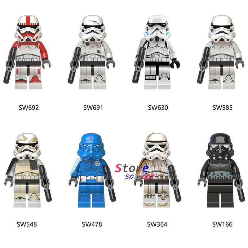 Single Star Wars Sandtrooper Clone Shock Trooper Stormtrooper Sergeant  Droid Escape Robot Figure building block toy for children