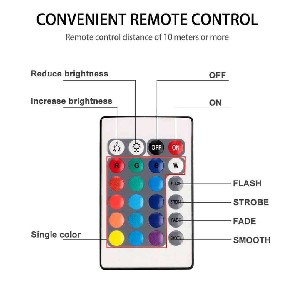 10 LED uzaktan kumandalı RGB dalgıç ışık pil kumandalı sualtı gece lambası açık vazo kase bahçe partisi dekorasyon