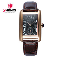 Fashion Classic Men S Quartz Watches CHENXI Classic Design Rectangular Male Watches Relogio Masculino Horloges
