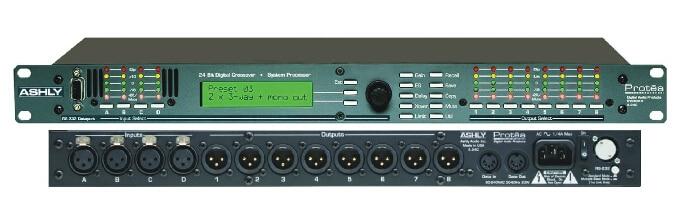 ASHLY 4 24C 24 bit Audio Digital System Processor Sound Speaker 4x2 way Crossover 4 in