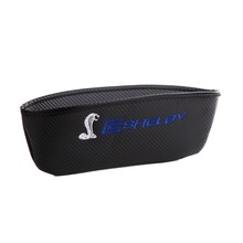 Embroidery for Shelby cobra emblem Car carbon fiber style seat crevice storage bag for Ford focus 2 3 fiesta Mustang accessories