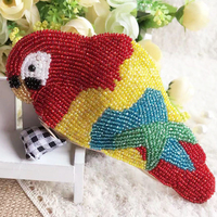 Ensso 2018 Handmade Beading Purse Parrot Embroider Mini Wallet Colorful Bird Coin Purses Animal Mini Bag Cute Gift Chinese New