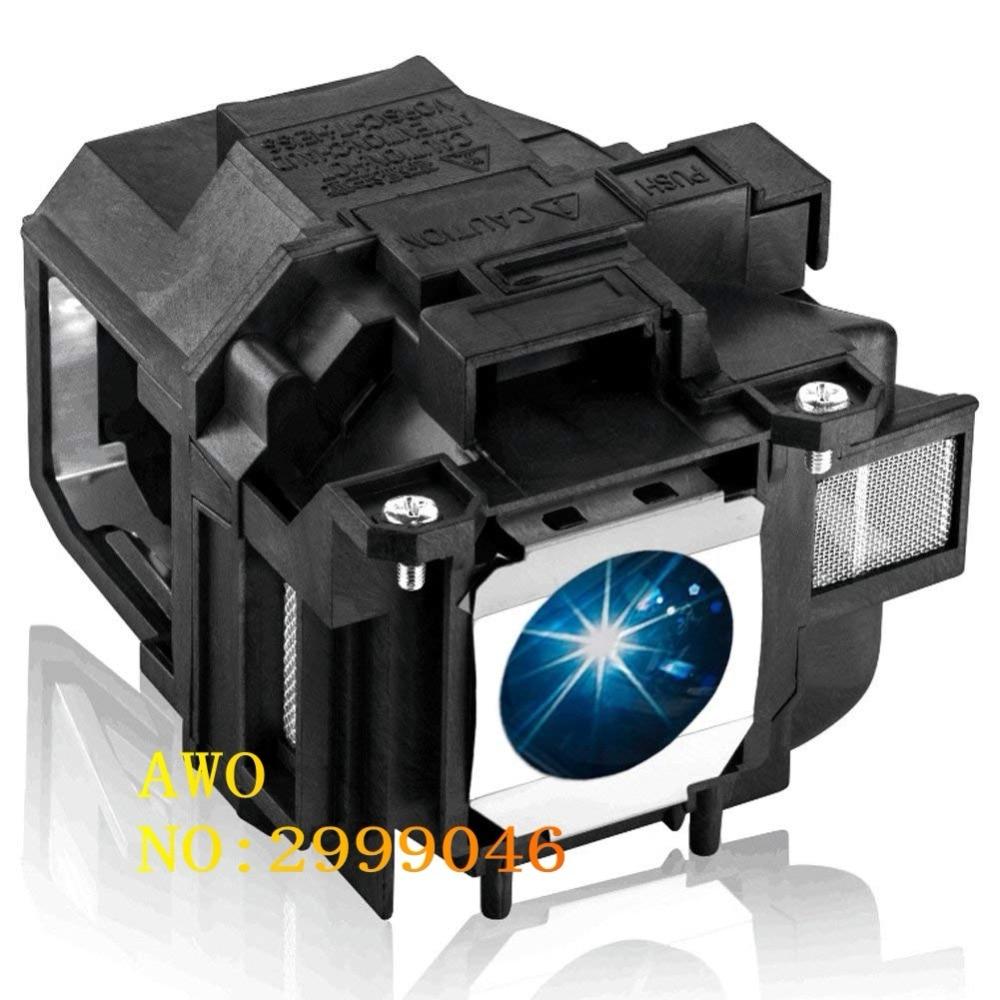 AWO Original Replacement FIT For Elplp67 PowerLite Home Cinema 2040 1040 2045 740HD 640, VS240 VS345,VS340 Projector Lamp replacement bulb lamp elplp85 for epson eh tw6600 eh tw6600w powerlite home cinema 3000 powerlite home cinema 3500 projectors